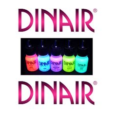 DINAIR FANTASY BODY PAINT, NEON, GLOW IN THE DARK UNDER BLACK LIGHT! (SEE VIDEO)