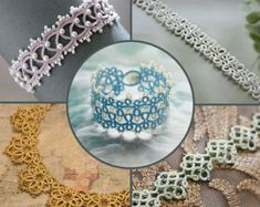 Victorian Romance  * Optimised for shuttle tatting * The digital PDF pattern, NOT the finished item * 5 pages * The pattern of the tatting lace bracelet * No basic tatting techniques included Should you have any queries regarding the pattern, you are always welcome to convo me. You can sell or give away items made from the pattern, but please do not sell, copy or redistribute the pattern itself. This is an instant downloadable digital file. No refunds will be given due to the nature of the…
