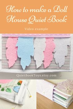 How to make doll house quiet book video