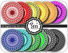 Mandala Art, Mandala Digital, Mandala Digital Clip Art, Mandala Clipart, Mandala Digital Paper, Instant Download - pinned by pin4etsy.com