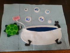 Books N Boys: I Had a Little Turtle Quiet Book Page