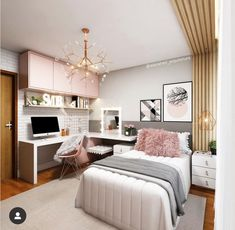 Do not panic, we give you some tips for a small bedroom with… Continue Reading → Study Room Decor, Room Ideas Bedroom, Teen Room Decor, Small Room Bedroom, Home Decor Bedroom, Bedroom Ideas For Small Rooms, Cool Teen Bedrooms, Small Room Decor, Home Room Design