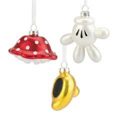 Disney 3ct Minnie Mouse Accessories Ornament Set