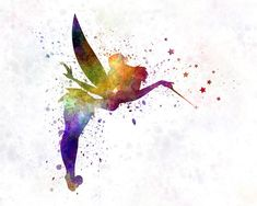 Tinkerbell In Watercolor Painting by Pablo Romero                                                                                                                                                     More