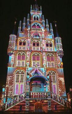 Colourful Gouda - City Hall, Holland 2013