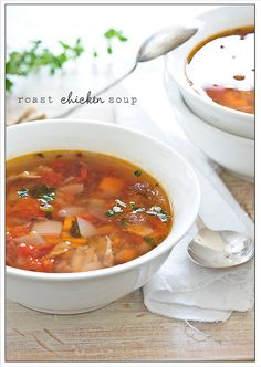 roast chicken soup by jules:stonesoup, via Flickr