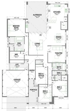 The Murray Canal Home Design 4 Bedroom House Plans, New House Plans, Dream House Plans, House Floor Plans, Australian House Plans, Model House Plan, House Ideas, Home Design Floor Plans, Storey Homes