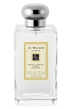 Free shipping and returns on Jo Malone London Jo Malone™ 'White Jasmine & Mint' Cologne (3.4 oz.) at Nordstrom.com. This enchanting essence, inspired by a sun-drenched morning in an English country garden, perfectly captures the scent of jasmine, lily, orange flower and rose on the morning breeze. An unexpected twist of soft and sensual wild mint stimulates the senses and teases the palette in this elegant and eccentric fragrance.