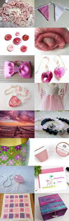 Treasury Time: Love Pink by Janet Wilkin on Etsy--Pinned+with+TreasuryPin.com