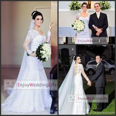 Discount 2014 Sexy New Sheer Long Sleeves Lace Mermaid Wedding Dresses Tulle Applique Beaded Seen Through Bridal Gowns BO6051 Online with $143.54/Piece | DHgate