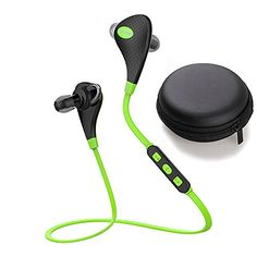 Bluetooth Headset iTrendz Bluetooth 41 Wireless Headphones AptX Technology Stereo Sport Headset Earphones Handsfree Car Earbuds with CD Audio Talking Music Green >>> Learn more by visiting the image link.
