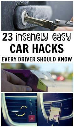 You rely on your car to take you across town and on long road trips, so check out these smart hacks that will make your car owner experience even better. Car hacks for organization, special tips for teens and families, DIY phone hacks, safety and travel tips, car cleaning hacks and more that every driver needs. Since reading number 8 I've never had trouble finding my car in a parking lot again!