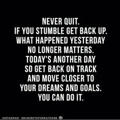 NEVER QUIT!  Via @mindsetofgreatness  Double tap if you agree and tag a friend that needs to see this! by foundrmagazine