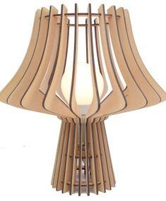 MDF lampara de mesa