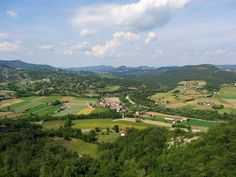Merana, Al, Piemonte - view from the Medieval tower on the San Fermo hill