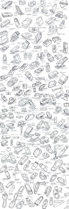 Product Sketching & Ideation by Mason Umholtz, via Behance