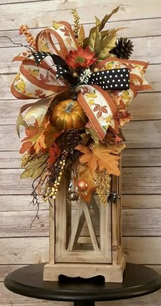 Fall Swags for Lanterns, Autumn Swags, Harvest Decoration, Autumn Swag for Wreath, Fall Leaf Swag - New Deko Sites Thanksgiving Wreaths, Fall Wreaths, Thanksgiving Decorations, Fall Lanterns, Lanterns Decor, Fall Lantern Centerpieces, Fall Crafts For Adults, Fall Swags, Harvest Decorations