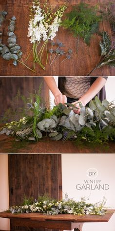 DIY Garland and Wintry Wreaths