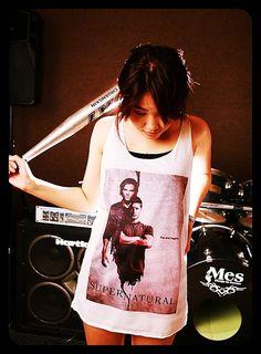 Supernatural Sam & Dean Tank Top Women Shirt by WeAreYoungShop, $14.99