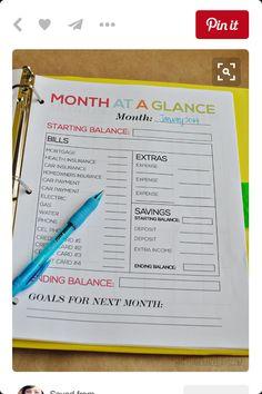 Monthly Money Plan