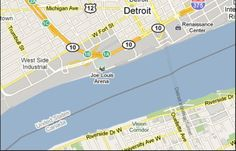 Detroit to Windsor is the only place in the world you can drive underwater between two countries. Detroit shares an international border with Canada and the world's ONLY existing underwater international vehicular border crossing. Visit Detroit, Metro Detroit, Detroit Michigan, Joe Louis Arena, The Mitten State, Windsor Ontario, Visit Usa, O Canada, Michigan Travel