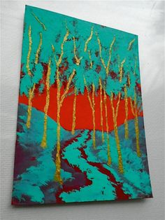 Twilight Woods 193 ARTIST TRADING CARDS 2.5 x 3.5 by MikeKrausArt
