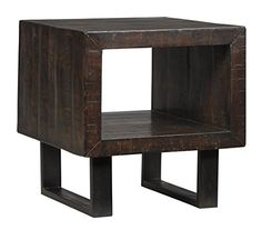 Signature Design by Ashley Parlone T881-3 End Table inBrown/Black