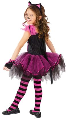Girls Catarina Kids Cat Costume Kids Cat Costumes - Mr. Costumes