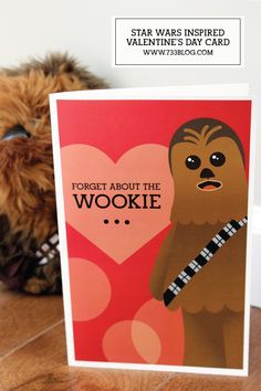 Wookie Adult Valentine's Day Card - seven thirty three