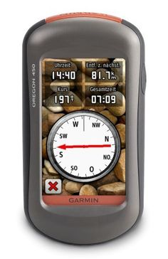 Garmin Oregon 450 Handheld GPS Navigator by Garmin. $246.00. Amazon.com                With Oregon 450 you can really get in touch with nature. This next-generation handheld features a rugged, sunlight-readable, touchscreen along with a built-in basemap with shaded relief, a high-sensitivity receiver, barometric altimeter, 3-axis electronic compass, microSD card slot, picture viewer and more. Even exchange tracks, waypoints, routes and geocaches wirelessly between simi...