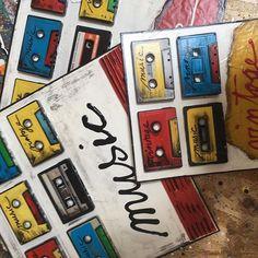 Ça continue.....#tapes #music #vintage #nostalgie #sophiecosta #newpopart #artcontemporain #contemporaryart #upcycling #painting #instaart #artforsale #artwork