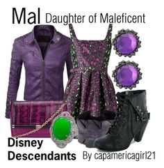 """Mal: Daughter of Maleficent"" by capamericagirl21 ❤ liked on Polyvore featuring Christopher Kane, Diane Von Furstenberg, Scunzani Ivo and Sam Edelman"