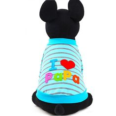 Oushiny Pet Clothes I Love Papa/mama Letters Dog T-shirt 2 Colors 5 Sizes ** Visit the image link more details. (This is an affiliate link and I receive a commission for the sales)