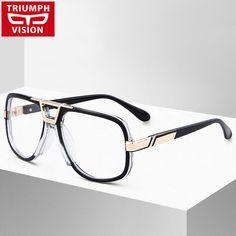 ec529f8108f7 TRIUMPH VISION High Quality Square Eyewear Frames Men Clear Lens Eyeglasses  Fashion Pilot Black Male Spectacle Glasses Frame Review