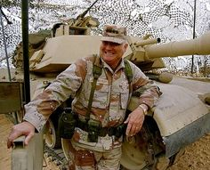 Norman Schwarzkopf, supreme military commander of the coalition forces during the Persian Gulf War...not vintage Hollywood, but still an American Icon.