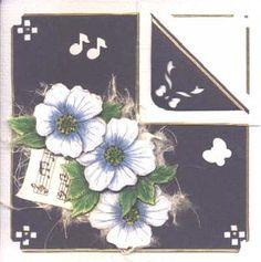 Bloemenkaartje met gevouwen hoekje