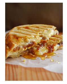 grilled fig & cheese sandwich.