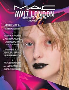 Backstage at Marques' Almeida, London Fashion Week. Get the look with Lipmix in Black combined with Eye Pencil in Ebony. Face M, Face And Body, Makeup Inspo, Beauty Makeup, Aw17, Beautiful Eyes, London Fashion, Get The Look, Backstage