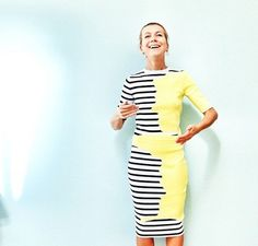 Natalie Joos looking fantastic in this fun dress from Risto SS15.