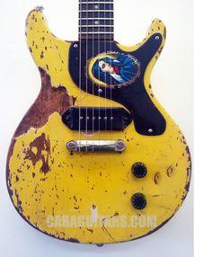 Johnny Thunders - Guitar - tribute - Junior Double Cutaway - TV Yellow - Relic | eBay