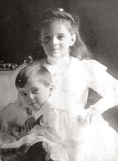 Princess Irina with her brother Dmitri (children of Xenia & Sandro)