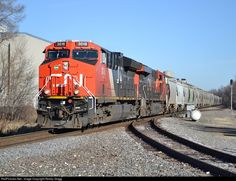 RailPictures.Net Photo: CN 3018 Canadian National Railway GE ET44AC at Pewaukee, Wisconsin by Robby Gragg