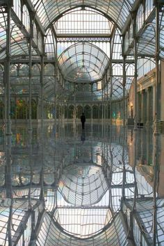 One of my favorite places in Madrid! The Crystal Palace, Madrid, Spain. The Crystal Palace, Crystal Palace Madrid, Crystal Castle, Foto Madrid, Le Palais, Beautiful Architecture, Beautiful Buildings, Modern Architecture, Architecture Career