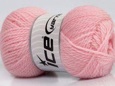 Fiber Content 60% Virgin Wool 40% Acrylic Brand Ice Yarns Baby Pink fnt2-43544