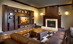 Conception salon avec des télévisions modernes ~ Décoration Salon / Décor de Salon