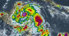 HURACAN : EARL Trayectoria Campeche Quintana roo Veracruz 3, 4 agosto 2016 categoría 1 imagen México #HuracanEarl
