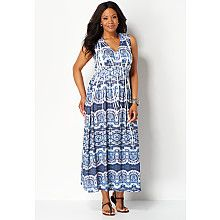 Cool Medallion Maxi Dress