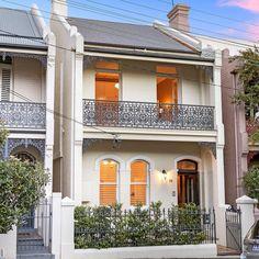 Ideas Exterior Renovation Ideas Victorian Terrace For 2019 Exterior Wall Design, House Paint Exterior, Exterior House Colors, Terrace House Exterior, Victorian Terrace House, Craftsman House Plans, Modern House Plans, Bungalows, Melbourne Architecture