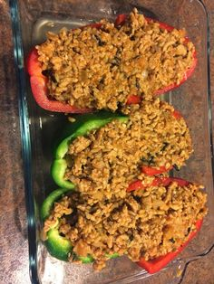 Shh! Mommy's Drinking: Clean Eating Recipe: Turkey Stuffed Peppers