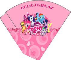"""Kit de Aniversário """"My Little Pony"""" - Convites Digitais Simples"""